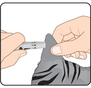 Cat Ear Lancing Device Testing Site